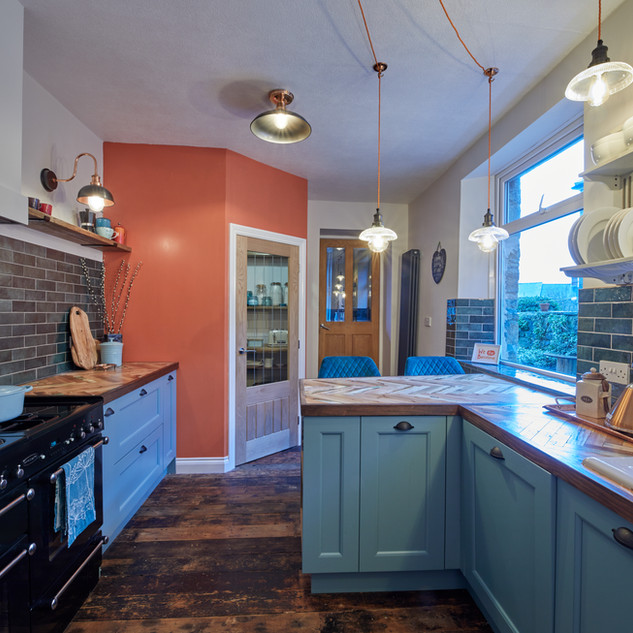 Blue Vintage Kitchen 1