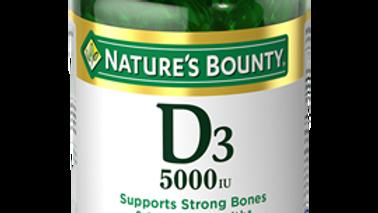 Vitamin D3 5,000 IU , 240 Rapid Release Softgels