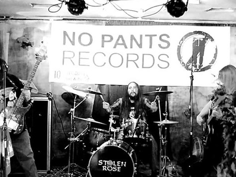 BLAST OFF WITH OUR PANTS OFF, STOLEN ROSE & NO PANTS RECORDS GET TO WORK.