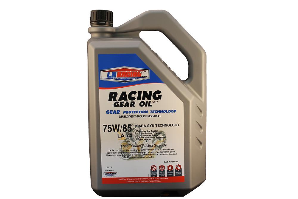 LA Racing Lubricants 75W/85 Racing Gear Oil.