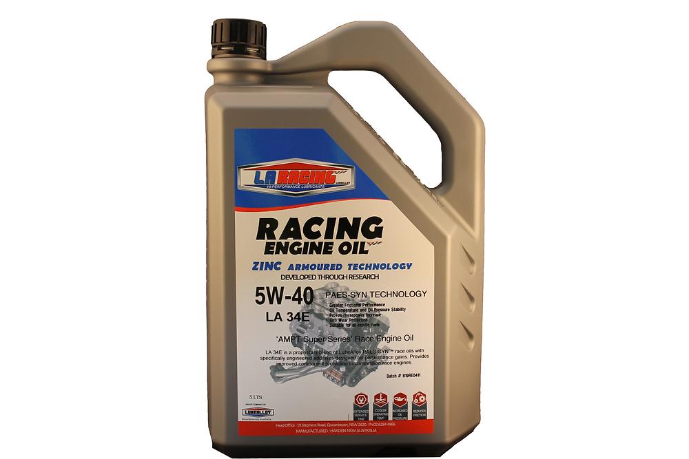 LA Racing Lubricants 5W-40 Racing Engine Oil.
