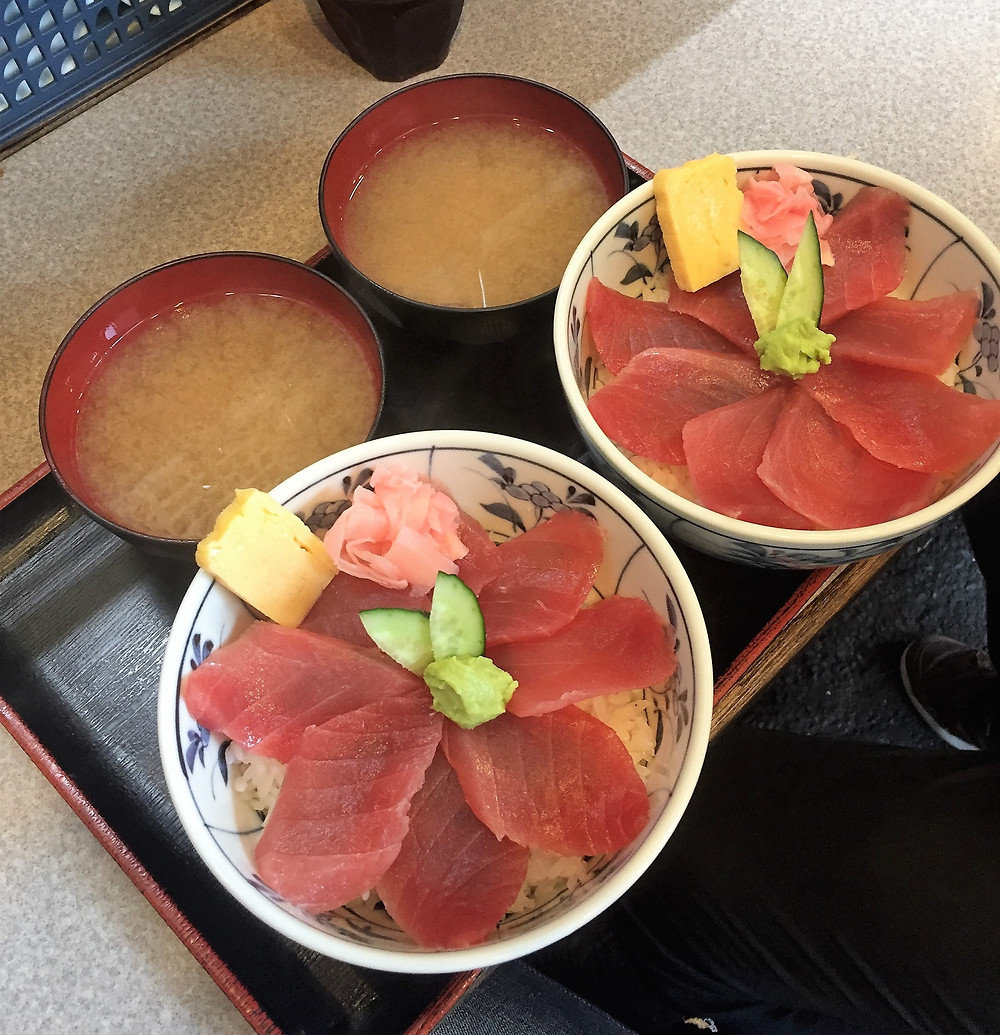 Sashimi - fresh tuna with rice