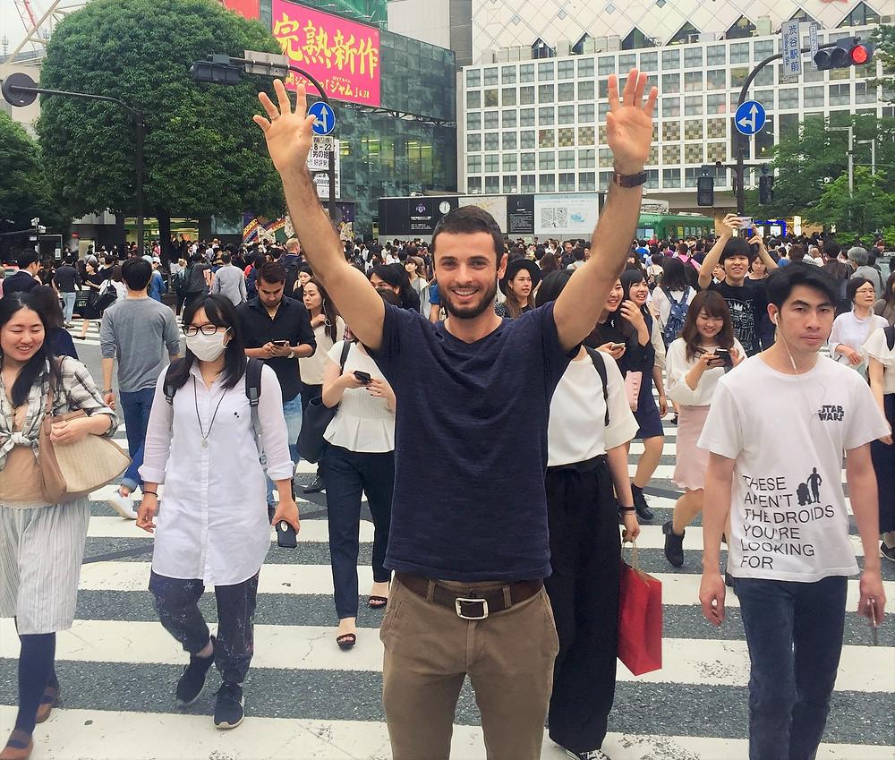 Dr Craig at Shibuya Crossing, Tokyo