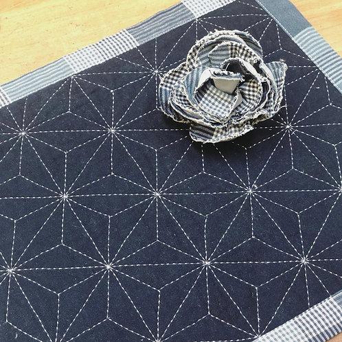 Machine Stitched Sashiko Placemat