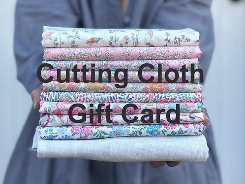 Cutting Cloth Gift Card
