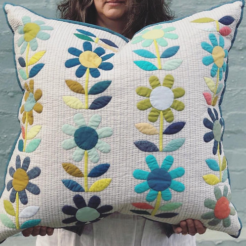 Shades of Blue European Pillow