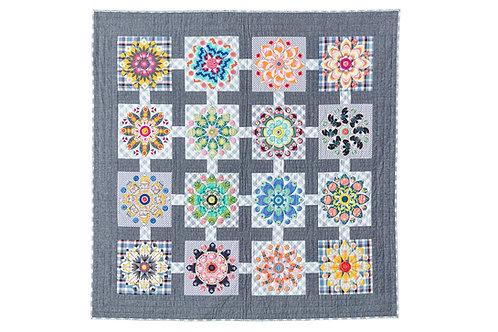 Mini Mandala Quilt Pattern by Megan Manwaring