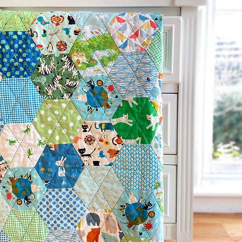 Machine Stitched Hexagon Templates & Help Video