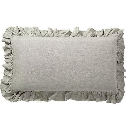 Ruffle Edged Decorative Pillow