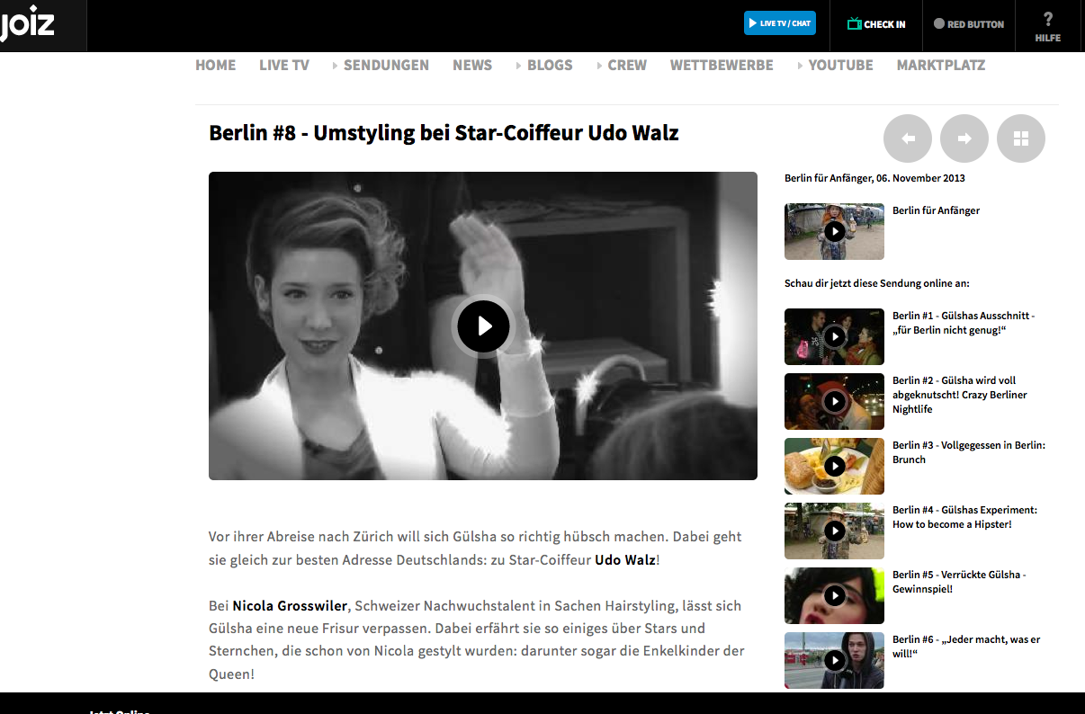Umstyling bei Star-Coiffeur Udo Walz