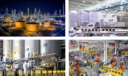 Chemical, Cosmetic, Oil & Gas, Food Proccessing