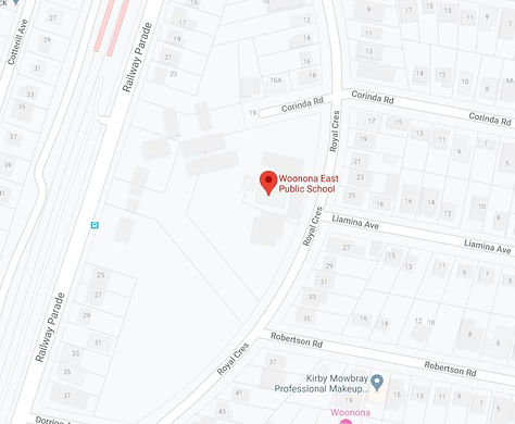 Google Map Woonona East.JPG