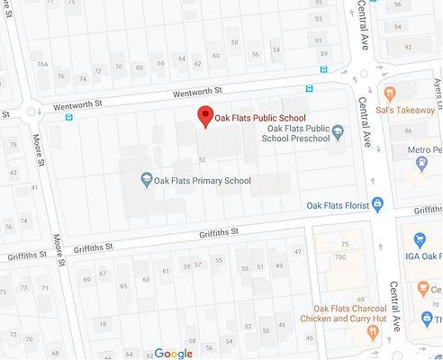 Oak Flats Google Map.JPG