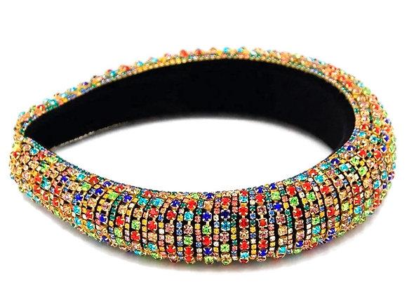 Multi Colour Rhinestone Headband