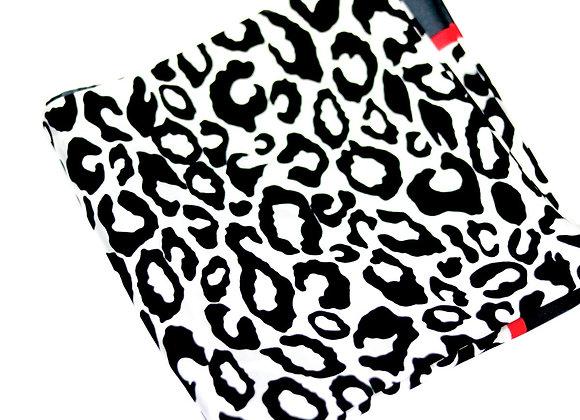 Leopard Print Satin Scarf