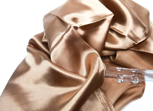 Old Gold Satin Scarf