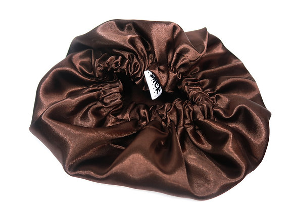Reversible Satin Bonnet - Brown
