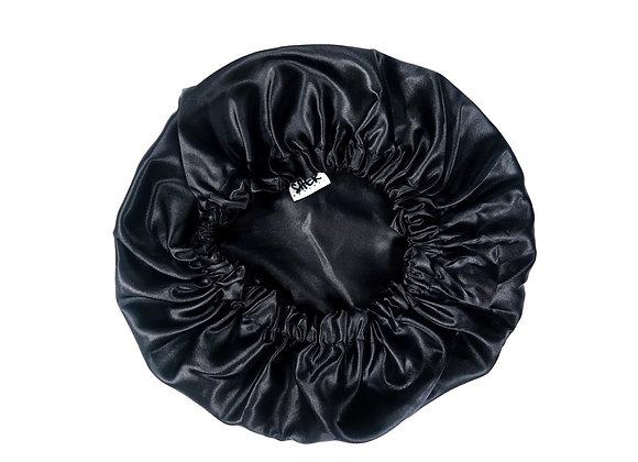 Reversible Satin Bonnet - Black