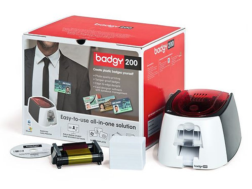 Evolis Badgy 200 ID Card Printer Bundle
