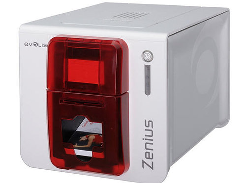 Evolis Zenius Classic Fire Red ID Card Printer - Single Sided
