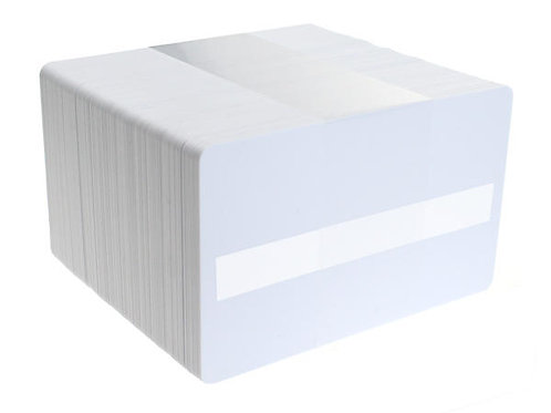 Blank White Printable PVC Cards with Signature Strip  - Pack of 100