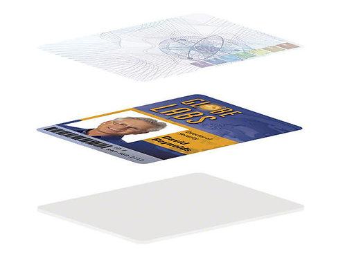 HID Fargo Clear Overlaminate High Secure Orbit Design (82618) - 500 Prints