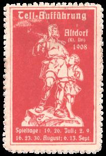 1908 Werbemarke Tellspiele Altdorf.png