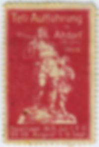 1909 Briefmarke Tellspiele Altdorf gekau