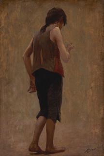 Albert Dawant, étude pour la misère, vers 1898