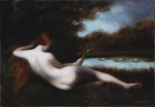 Germaine Dawis - Nu à la fleur, 1906