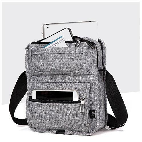 Tablet Messenger Shoulder Bag Multi-Pockets Crossbody Mini Casual