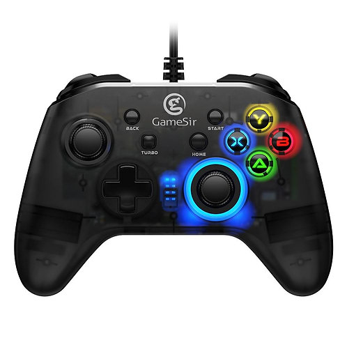 USB Wired Gaming Controller Gamepad with Asymmetric and Vibrating