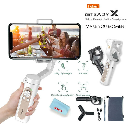 Isteady X Gimbal 3-Axis Opvouwbare Stabilizer Handheld Gimbal Voor
