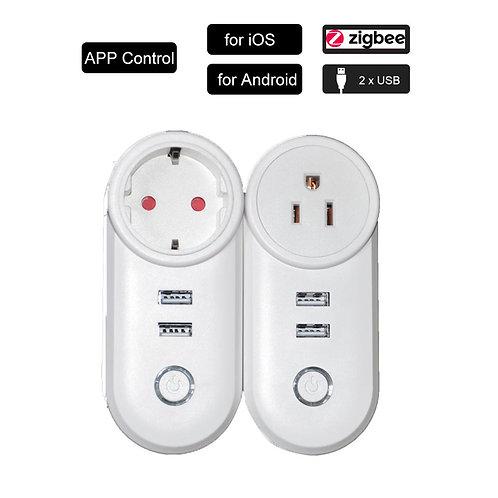 2 USB Port Socket Smart Power Strip APP Remote