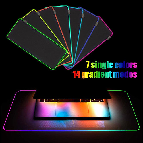 RGB Soft Large Gaming Mouse Pad Non-Slip Oversize Glowing Led Extended