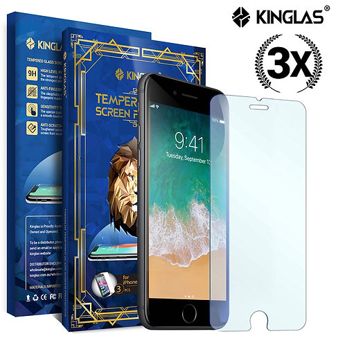 kinglas tempered glass for iphone 3 pack