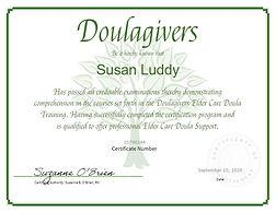 Susan Luddy Elder Care Doula Certificate