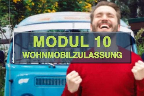Modul 10 -Wohnmobilzulassung