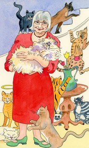 Mrs-Timm-and-her-Cats