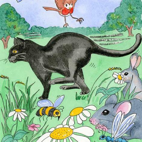 Mooncat raced through the swaying, swishing grass