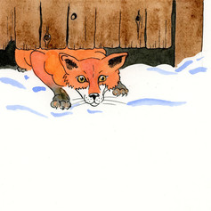 Fox slunk under the gate