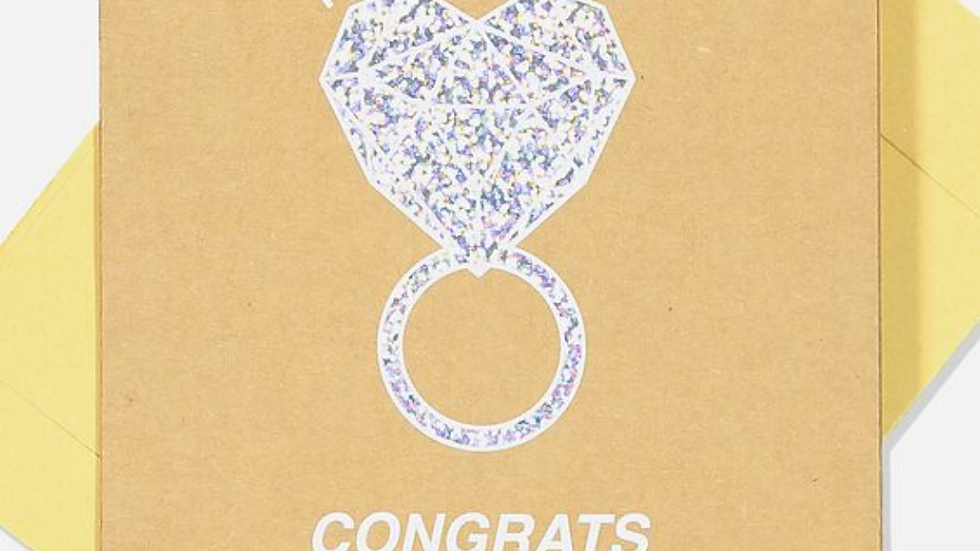 Card - Engagement. Congrats on the New Bling