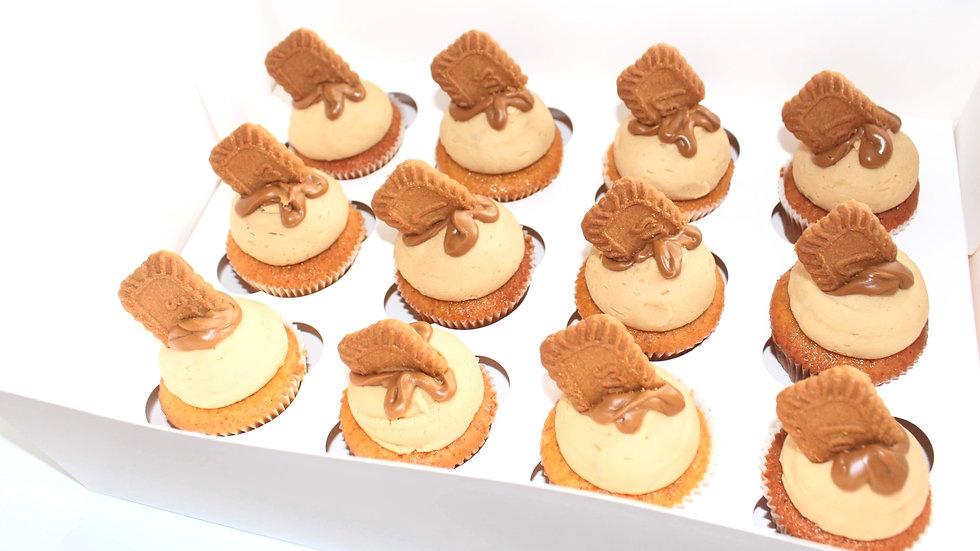 Biscoff & Caramel Mud Cupcakes - 12 Pack