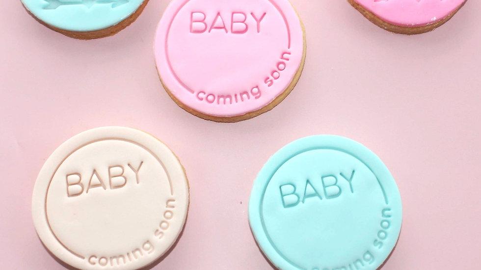 Baby .... Coming Soon! Cookies x 12