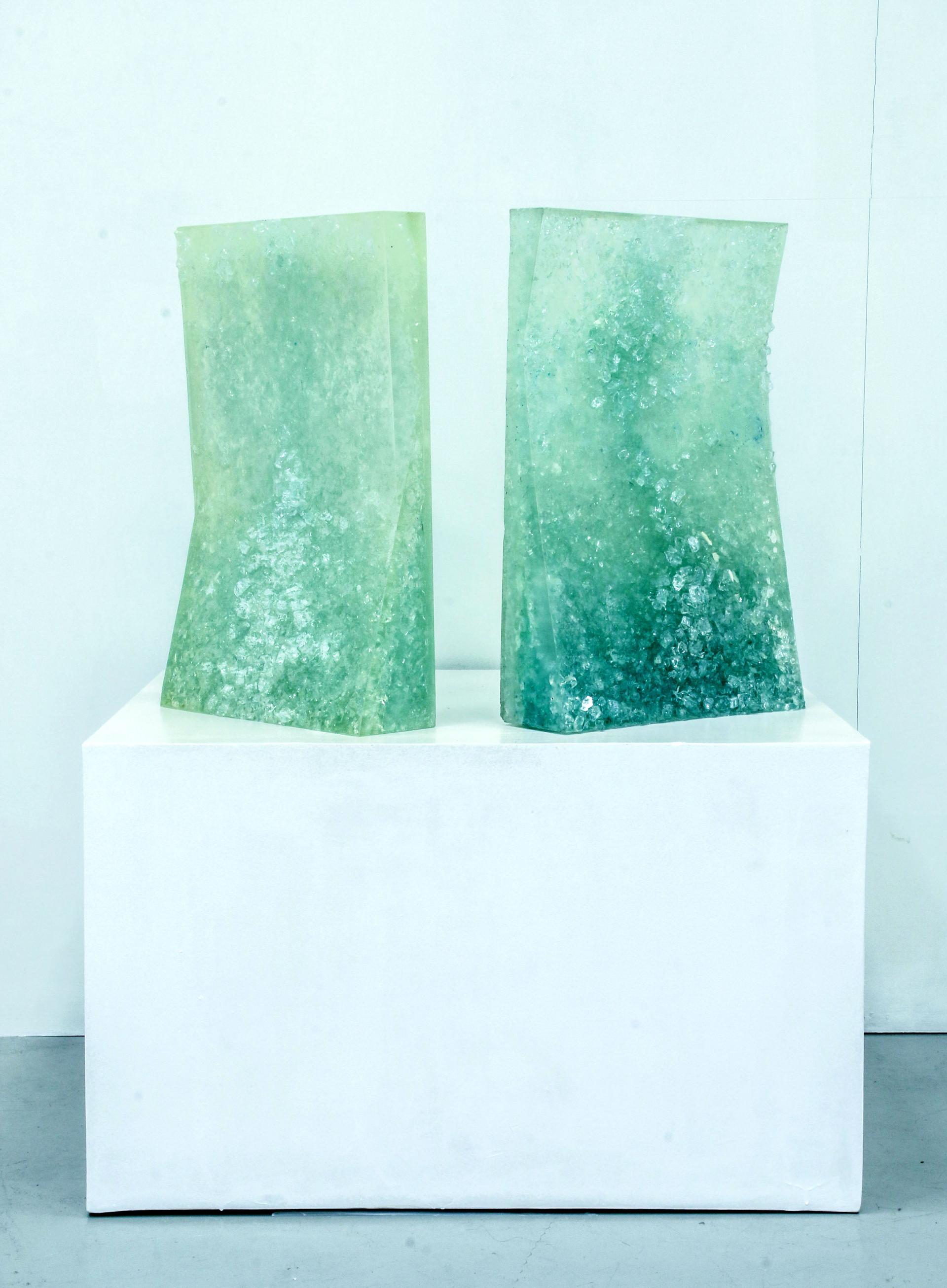 FROZEN I ja FROZEN II Acrylic paint, canvas, glass, resin AVAILABLE