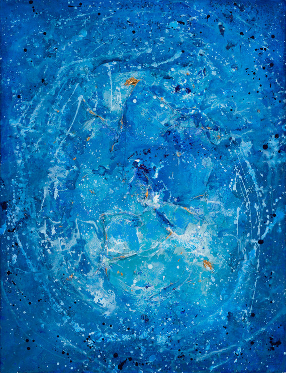 MILKY WAY  114x146 cm AVAILABLE  Abstract mixed media painting on canvas, with thick rough surfaces and lots of layers.