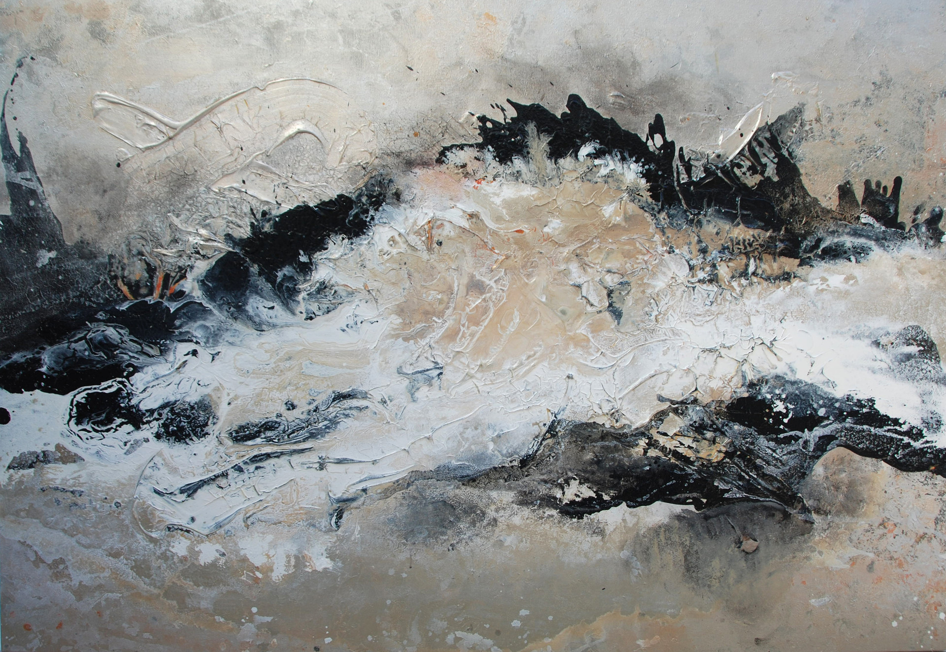 SOUND OF SILENCE 135x200cm mixed media SOLD