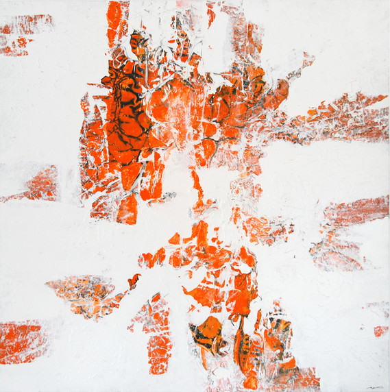 ALL OR NOTHING 135x135 cm mixed media SOLD