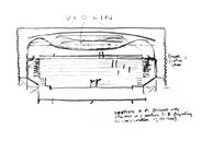 Fine Art Center (Sketch), Louis I. Kahn, Kahn Collection. Universidad de Pennsylvania