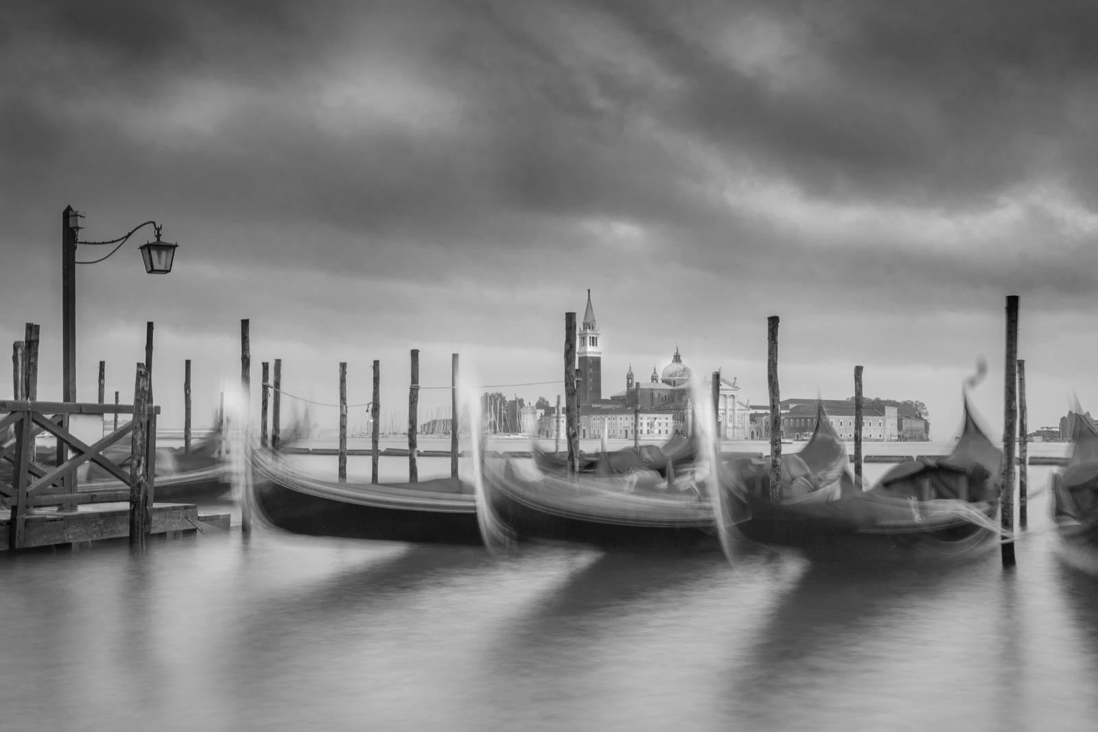 MONO - Venice Gondolas by Mark McConnell ( 7 marks)